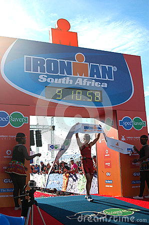 Female winner Ironman South Africa 2013 Editorial Photography