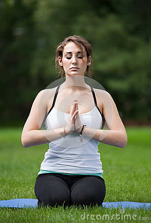 Female Yoga Practice  at Outdoor Park