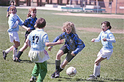 Female Youth Soccer Players Editorial Image