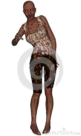 Female Zombie Standing