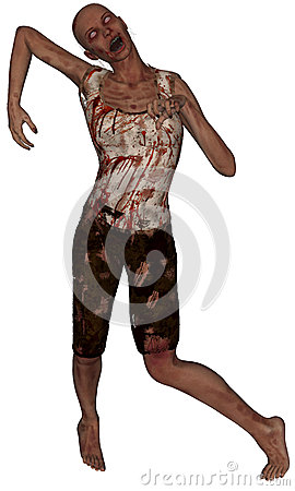 Female Zombie Walking