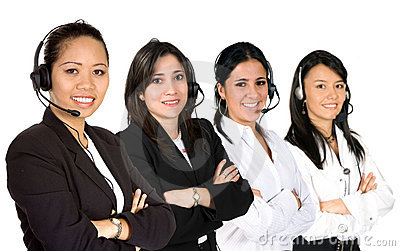 Females only customer service team
