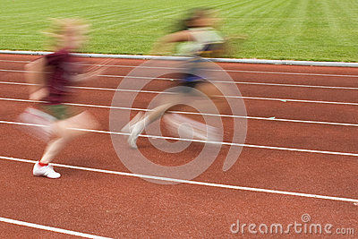Females Racing on the Track