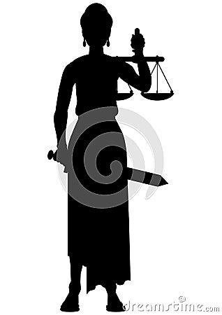 Femida (themis) silhouette