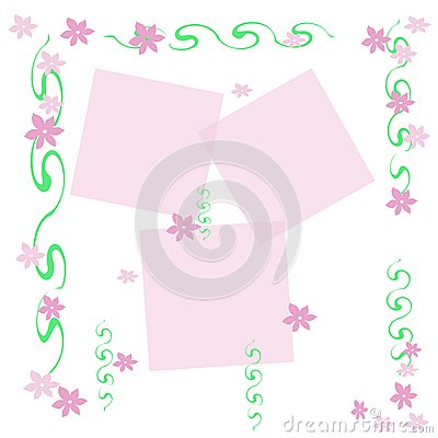 Feminine flower frame