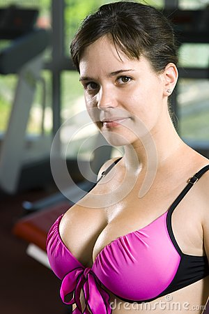 Feminine girl in the gym