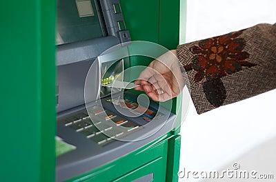 Feminine hand with credit card