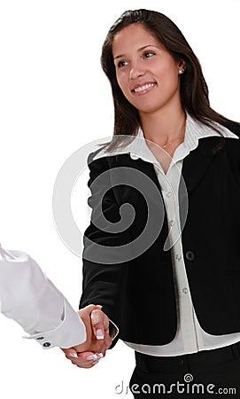 Feminine handshake