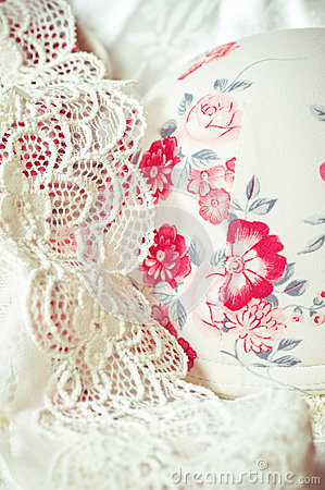 Feminine lacy underclothes background