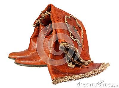 Feminine leather boots