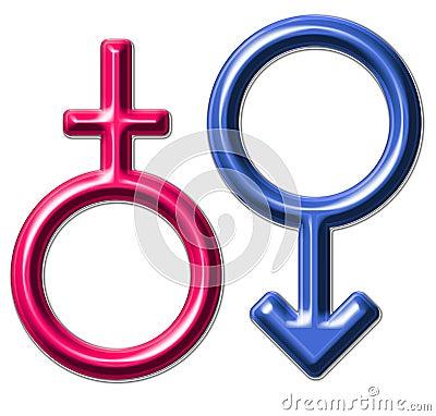 the feminine-male symbol