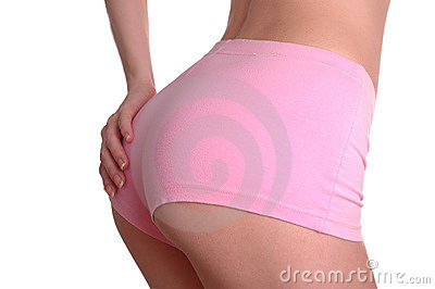 Feminine pink shorts and hand