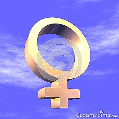 Feminine Symbol 3d