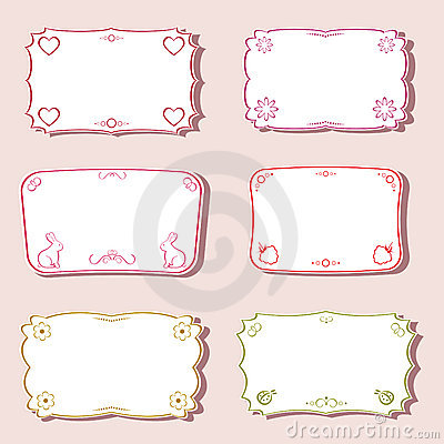 Femininity Frames Set. Stock Photography - Image: 19476202