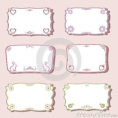 Femininity frames set.