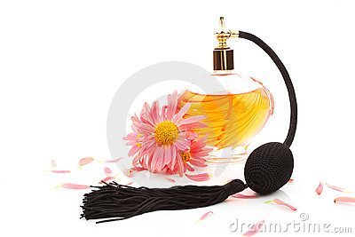 Femininity. Perfume and flower blossom.