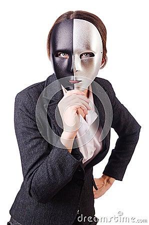 Femme avec le masque