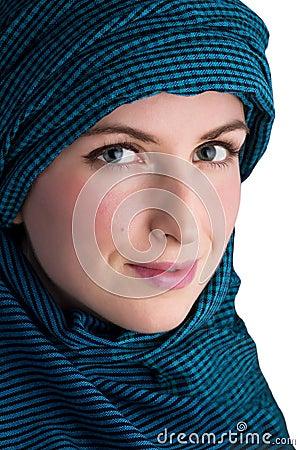 Femme avec le voile