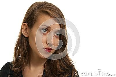 Femme avec une taupe