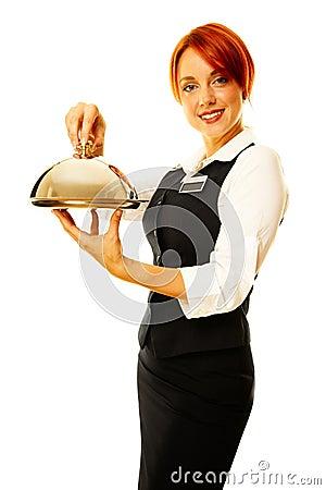 thumbs.dreamstime.com/x/femme-comme-serveuse-de-restaurant-16563875.jpg