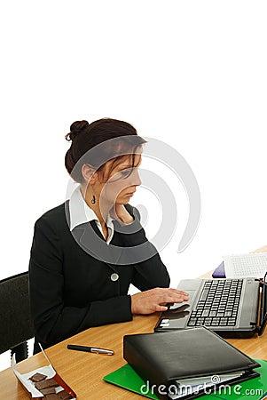 Femme dans le travail images stock image 11958144 for Photos gratuites travail bureau