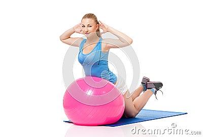 Femme de forme physique
