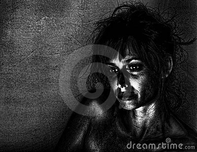 Femme déprimé
