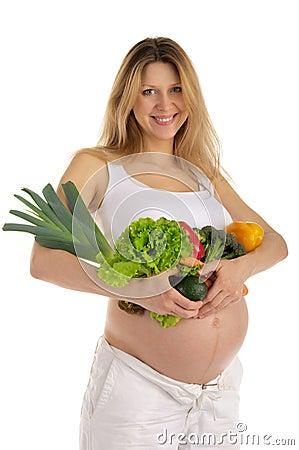 femme enceinte heureux avec des fruits et l gumes photos stock image 18647233. Black Bedroom Furniture Sets. Home Design Ideas