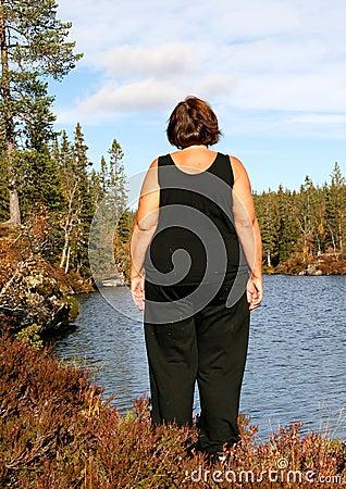 Femme obèse