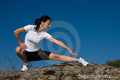 Femme sportif