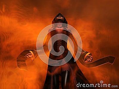 Femmina dell essere umano dello stregone