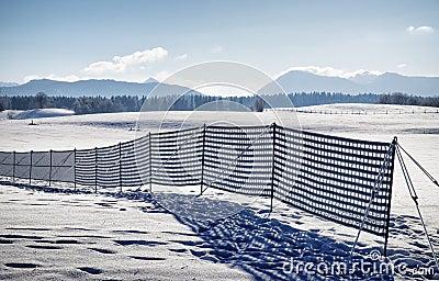 Fence against snowdrift