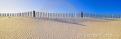 Fence along beach