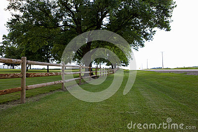 Fence along field in St Louis Missouri