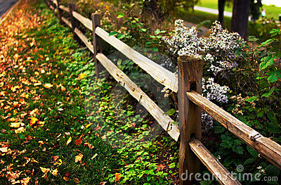Fence along the road.