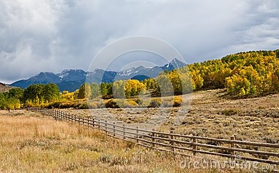 Fence In Colorado Mountains