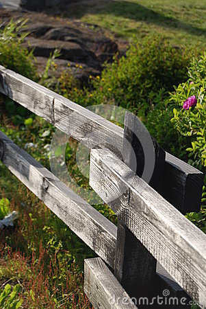 Fence detail on a field