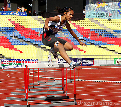 Fence Jump Athletes Stock Image - Image: 14775541