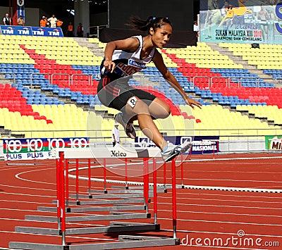 Fence Jump Athletes Editorial Photo