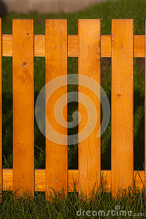 Fence made on wood
