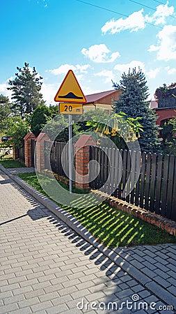 Fence near houses.