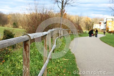 Fence with shallow depth of field