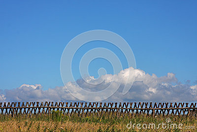 Fence and skyscape