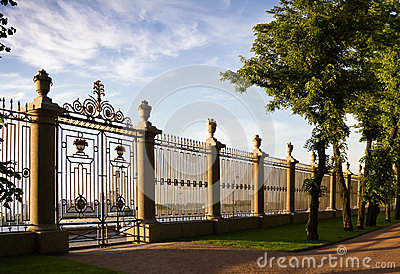 Fence of the summer garden in St Petersburg
