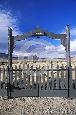 Fence surrounding pioneer cemetery
