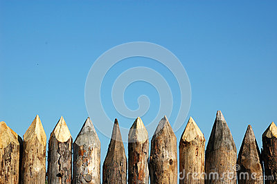 Fence of wood