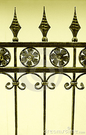 Fence of wrought iron
