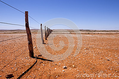 Fenceline in Outback Australia