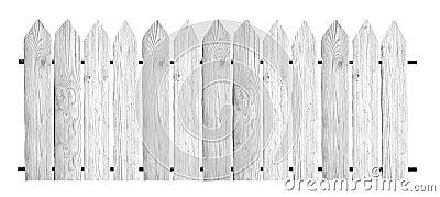 Fences isolated on white