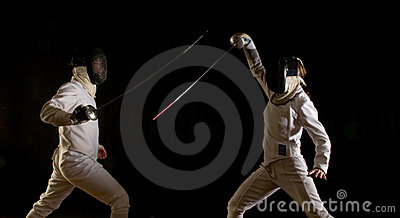 Fencing action